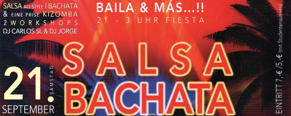 Salsa/Bachata-Party am 21.09.2019