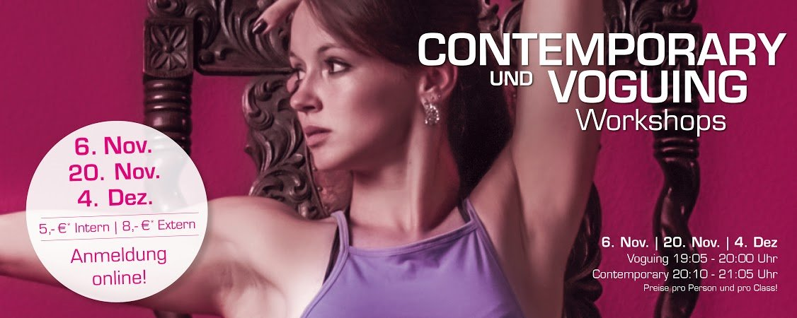 Workshops Contemporary und Voguing