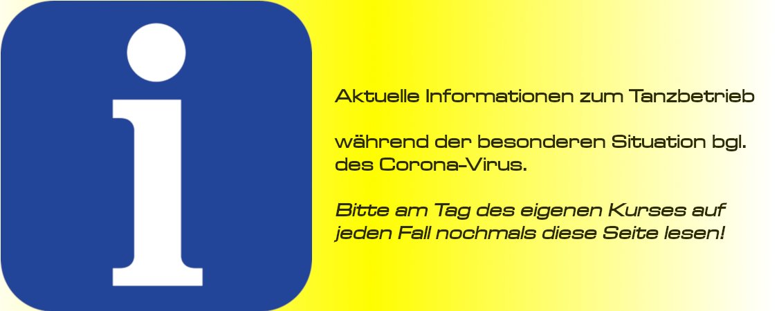 "Infos zum Tanzbetrieb im ""Corona-Modus"""